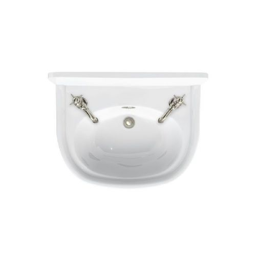 Arcade 500mm Cloakroom Basin 2 Tap Holes